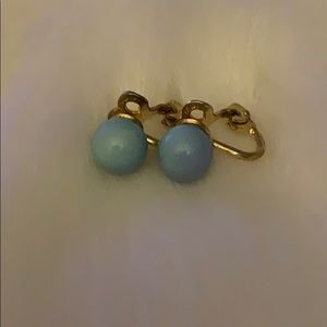 Bundle 4 for $25- VTG Powder Blue Pearl Earrings
